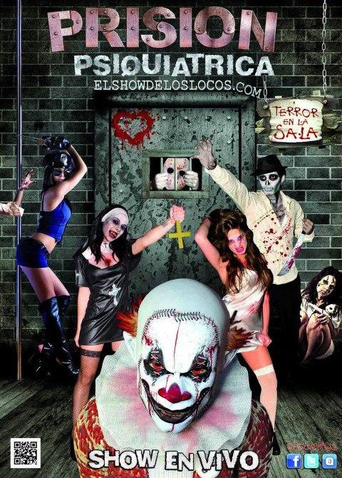 """cartel del show """"Prisión Psiquiátrica"""""""