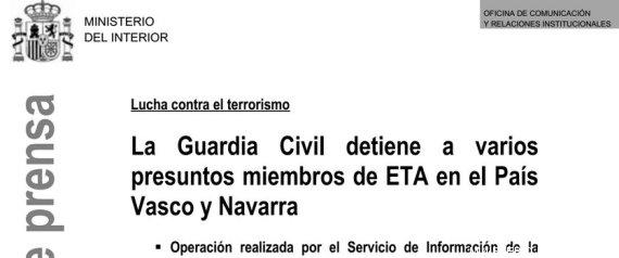La fiscal a pide explicaciones al ministerio del interior for Ministerio del interior espana